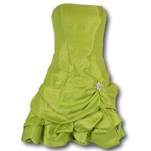 Cache Light Green Prom Strapless Dress 4